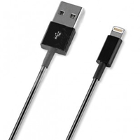 Кабель для Apple Lightning Deppa 1.2 м черный 72115 - Кабели USB - фотография